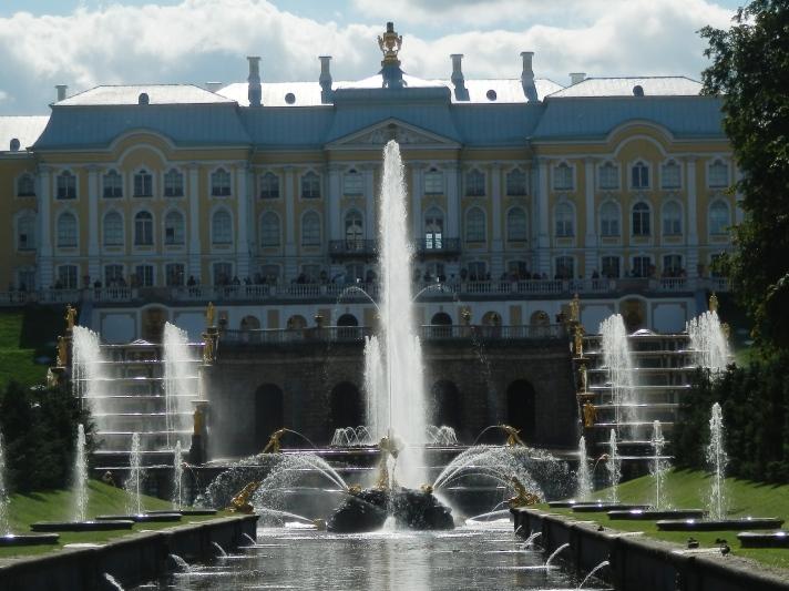 Vue du Palais Péterhof